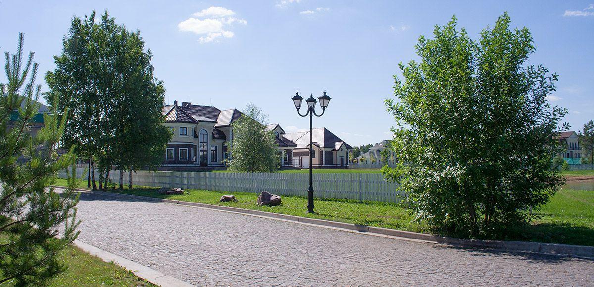 Панорама улицы, вид 13, поселок Онегино