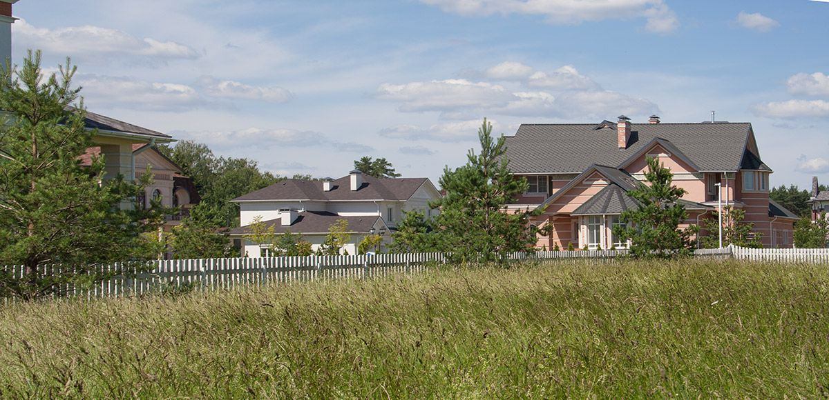 Панорама поселка, поселок Онегино