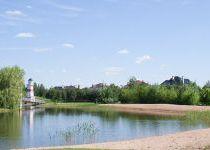 Песочный пляж, поселок Онегино